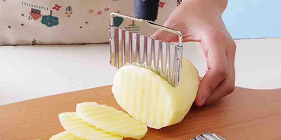 Cortador de patatas onduladas